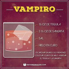 El Vampiro - The Vampire Drinks Alcohol Recipes, Non Alcoholic Drinks, Wine Recipes, Bar Drinks, Cocktail Drinks, Cocktail Recipes, Summer Grilling Recipes, Happy Hour Drinks, Coffee Barista