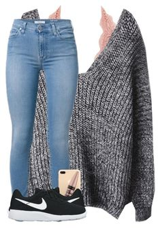 """School sux"" by cicisquared ❤ liked on Polyvore featuring Charlotte Russe, Maybelline and NIKE"