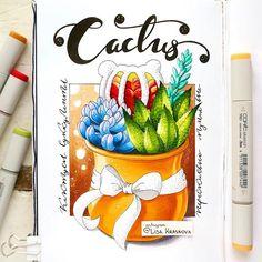3/8 theme of my drawing challenge- desert plants  Вся лента пестрит сладкими ягодками, но приходит время нового задания ;) Тема 3/8 нашего марафона - кактусы, суккуленты и другие растения пустыни.  Рисуем до утра вторника и не забываем хэштег #lk_sketchflashmob ;)