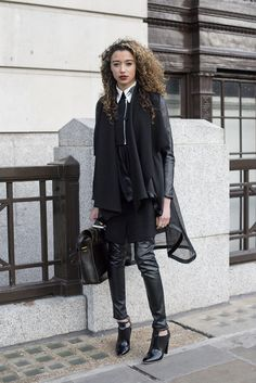 The Street Style at Men's Fashion Week Is All About the Ladies: It's Men's Fashion Week, and even though we may have an eye on the collections rolling down the runway, we can't help but drool over the creatively chic street style outfits the fashionistas are wearing outdoors.