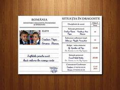"""Invitație tip """"carnet de elev"""" - interior. (dimensiune desfăşurată A5 - 30 x 20 cm)."""