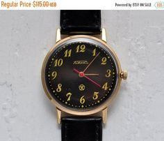 "SALE - Soviet watch ""Raketa"", Vintage watch ,Gold plated Watch, Mens watch, classic watch, Watch Men, boyfriends watch"