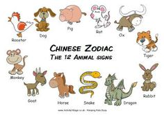 Chinese New Year Zodiac Animals - useful to refer to to be aware of the order of the animals included and be prepared