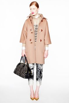 j crew......LOVE the coat.......LOVE the whole outfit.......striped hoodie & all..........