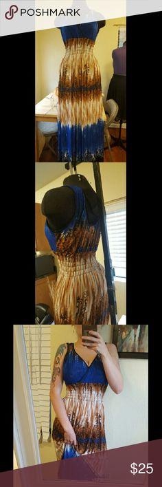 Beautiful Dress Beautiful brown and blue maxi dress. Dresses Maxi