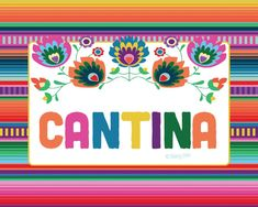 Cantina Printable Sign Instant Download Fiesta Graduation Party Mexican Serape Blanket 1st 21st Bridal Mexican Wedding Nacho Average Fiesta