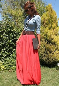 Coral & Maxi...two of my favs:)one day when I lose all the weight.. I will wear this!