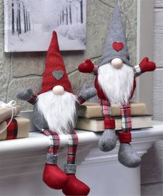 Gnome tall Christmas Holiday Fabric Gnome - Christmas Gnome - Xmas Gnome - Holiday gift - Gift for her - Holiday decorThis Gnome Shelf Sitter Décor is perfect! Gnomes are thought to guard treasures, this gnome will guard all of your Holiday goodies. Christmas Gnome, Christmas Knitting, Christmas Holidays, Christmas Decorations, Outdoor Christmas, Christmas Christmas, Holiday Crafts, Holiday Decor, Christmas Decoration Crafts