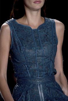 J. Mendel Spring 2013 RTW. I like the style, but it kind of looks like it's made out of plastic.
