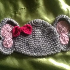 crochet elephant pattern baby hat | Newborn elephant hat by Arielle @ Arielle's Custom Crocheted Hats