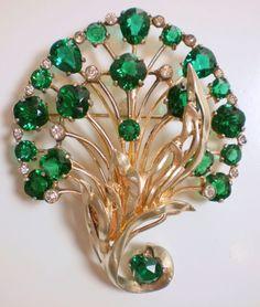 Eisenberg Sterling Dimensional Fan Flower Pin Brooch...