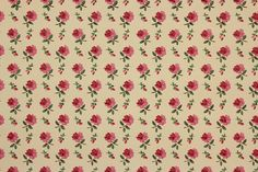 1940's Vintage Wallpaper Petite Pink Roses on by RosiesWallpaper, $14.00