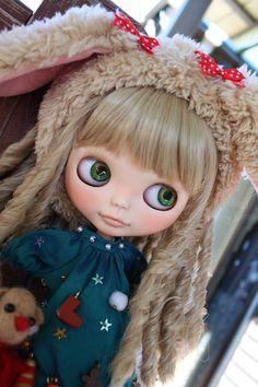 """Custom Blythe """"Poodle""""   Buy her here:   #blythe #blythedolls #kawaii #cute #rinkya #japan #collectibles #neoblythe #customblythe"""