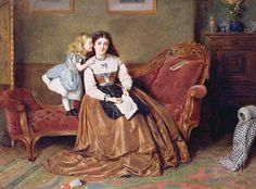 A mothers darling by George Goodwin Kilburne