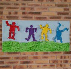 Une belle réalisation plastique à la manière de Keith Haring pour la maternelle et le primaire.