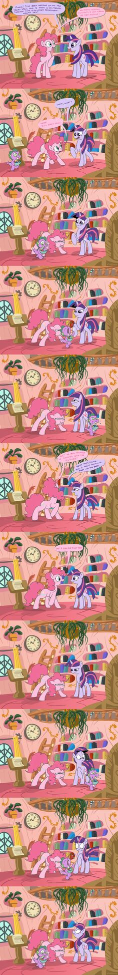 "Pinkie Pie: ""Laws of Time and Space? Meh""."