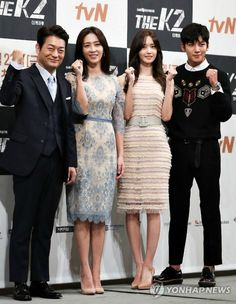 """Say it ain't so, Healer-ya! Thankfully, I think Ji Chang-wook (Healer) was kidding about this being his last action series, because the alternative would be too sad. At the press conference for his new action thriller The K2, he explained good-naturedly how difficult the action sequences have been. """"It's so difficult. It led to me …"""