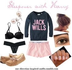 """""""Inspired - Sleepover with Harry"""" by one-direction-inspired-outfits ❤ liked on Polyvore"""