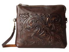 Patricia Nash Cut Out Todi Crossbody Dark Brown - Zappos.com Free Shipping BOTH Ways