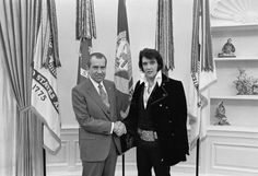 Then Nixon deputized Elvis as a U.S. Marshal! | 22 Reasons To Love Richard Nixon On His 100th Birthday