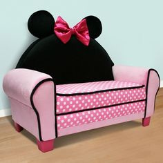 Minnie Mouse couch..would be really cute in her playroom.