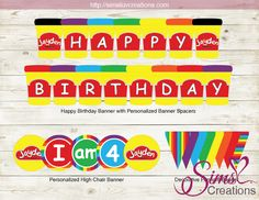 PLAYDOH BIRTHDAY PARTY KIT | PLAY DOH PARTY PRINTABLES / HAPPY BIRTHDAY BANNER / HIGH CHAIR BANNER