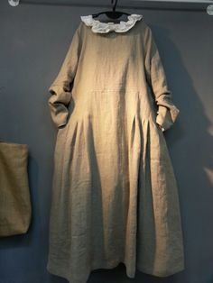 올리브의 린넨스토리 - *리투아니아린넨 사... : 카카오스토리 Lovely Dresses, Vintage Dresses, Cotton Linen, Linen Cloth, Dress Up, Shirt Dress, Modest Outfits, Frocks, Dress To Impress