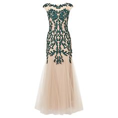Phase Eight Collection 8 Oralie Embroidered Dress NudeForest £159.00 AT vintagedancer.com