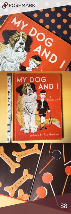 Vintage Children's Book 1958 My Dog and I is a vintage children's book from 1958. Beautiful sketch style illustrations.  Good condition with gentle wear to pages and edges. Strong binding.  Slight discoloration on front & back cover, and a few pages (pictured) Appears to have been a library book.  Copyright: 1958 Nancy Lord & Paul Galdone 31 Pages 10in x 7.5in Other