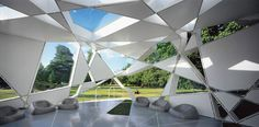 Serpentine Gallery Pavilion 2002 | TOYO ITO & ASSOCIATES ARCHITECTS The Serpentine Gallery Pavilion 2002 appeared to be an extremely complex random pattern that proved, upon careful examination, to derive from an algorithm of a cube that expanded as it rotated. The numerous triangles and trapezoids formed by this system of intersecting lines were clad …
