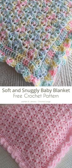This perfect size baby blanket is sweet and simple. The Soft and Snuggly Baby Blanket Free Crochet Pattern is easy enough for beginners Crochet Baby Blanket Free Pattern, Crochet Afghans, Easy Crochet, Crochet Stitches, Free Crochet, Kids Crochet, Baby Blankets To Crochet, Best Baby Blankets, Baby Girl Crochet Blanket