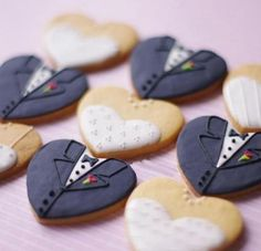 bride and groom cookie
