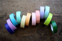 WASHI TAPES -3 Rolls of Solid Colour Tapes by mt (Choose 3 from 21 colours). $8.00, via Etsy.