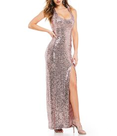 Shop for B. Darlin Racer Back Sequin Long Dress at Dillards.com. Visit Dillards.com to find clothing, accessories, shoes, cosmetics & more. The Style of Your Life.