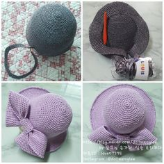 Diy Crafts Rose, Diy Crafts Butterfly, Diy Crafts Crochet, Crochet Projects, Crochet Hat With Brim, Crochet Summer Hats, Knitted Hats, Crochet Hats, Basic Crochet Stitches
