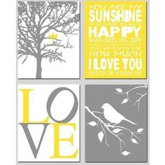 Free Yellow and Grey Printables                                                                                                                                                                                 More