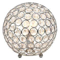 Crystal Ball Sequin Table Lamp | Kirklands