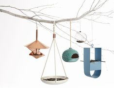 A look at some modern bird feeders for your home.