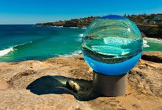 The annual Sculpture by the Sea exhibition opened today along the Bondi to Tamarama Coastal walk in Sydney.  Sculpture - 'horizon' by Lucy Humphrey