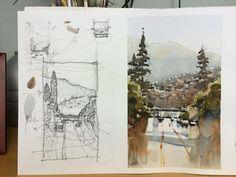 Iain Stewart To the 55 - Watercolor sketchbook.