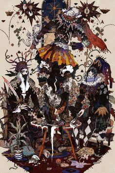 A Arte de Akiya Kageichi - Design Innova Art And Illustration, Illustrations, Game Art, Arte Inspo, Arte Tribal, Edward Hopper, Pretty Art, Asian Art, Japanese Art