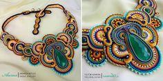 Ожерелья Aurus Jadwiga Soutache Necklace, Jewlery, Necklaces, Patterns, Fashion, Block Prints, Moda, Jewerly, Fashion Styles