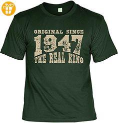 Jahrgangs/Geburtstags/Spaßshirt/Fun-Shirt: Original since 1947 The Real King geniale Geschenkidee - T-Shirts mit Spruch | Lustige und coole T-Shirts | Funny T-Shirts (*Partner-Link)