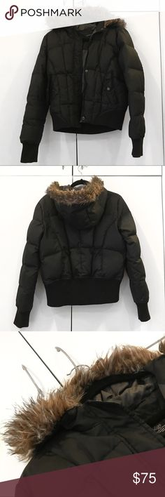 calvin klein jeans black down cropped puffer coat calvin klein jeans black down cropped puffer coat   extremely warm down jacket with faux fur hood lining from calvin klein! slightly cropped.  size: women's size medium condition: excellent pre-owned condition, see pics for pilling on bottom hem & tiny hole in right sleeve fit: true to size flat measurements:     * 23 inches in length from shoulder     * 20 inches pit to pit  thanks for visiting my closet! ❤️ Calvin Klein Jeans Jackets…