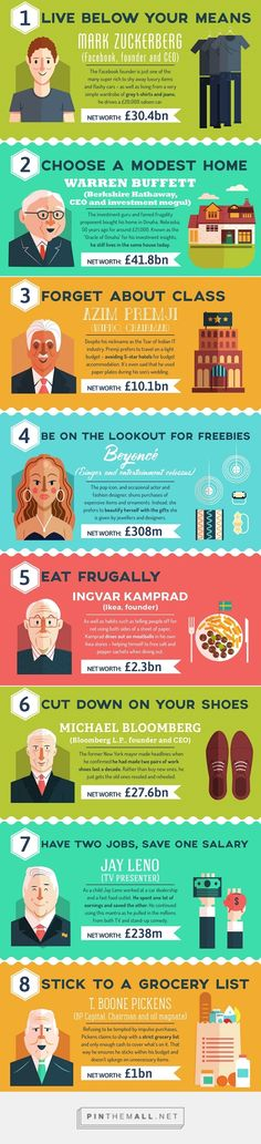 Infographic: 11 Frugal Habits Of The Super Rich - DesignTAXI.com - created via https://pinthemall.net