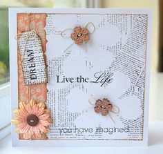use the negative image from stamping die cut papers... fab!