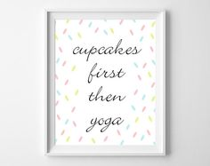 Cupcakes Typography Quote by bonmotprints, $12.00
