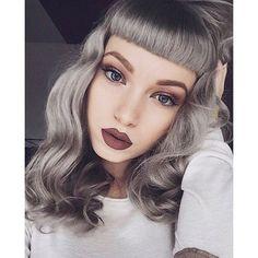@_missbo #fringe #bangs #silverhair