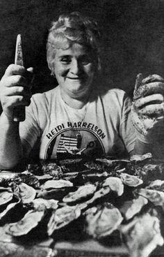 The 1978 U.S. Oyster Shucking Champion. | Florida Memory
