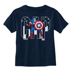 Toddler Dallas Cowboys Navy Marvel Captain America Hero T-Shirt